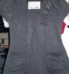 Платье вязаное.110см