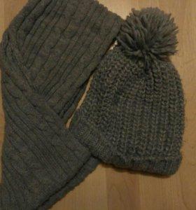 Шапка, шарф комплект