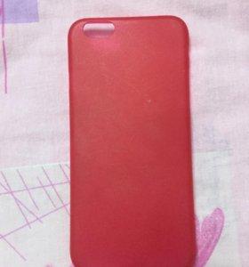 Чехол красный на айфон 6