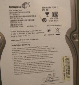 Жесткий диск Seagate Barracuda 750/500/320 Gb