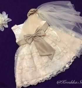 Нарядное детское платье, новое
