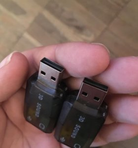 USB адаптер к наушникам