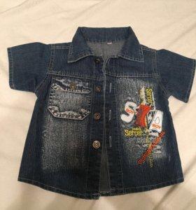Джинсовая рубашка-куртка