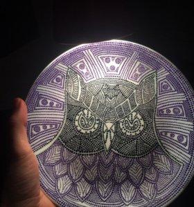 Тарелка декоративная 19см