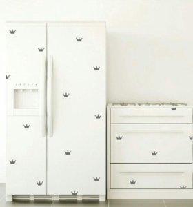 Наклейки на мебель/стены