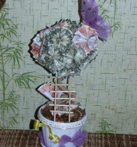 Топиарии на заказ(денежное дерево)