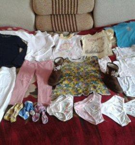 Пакет вещей для девочки 3-5 лет и сапожки УГГИ