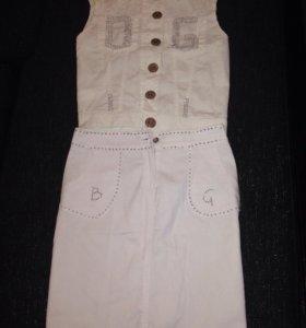 Юбка Жилетка джинсовые=600 за всё