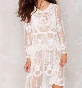 Новое Платье кружевное ромашечки