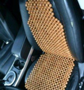 Б/У.Деревянная накидка на сиденья авто.
