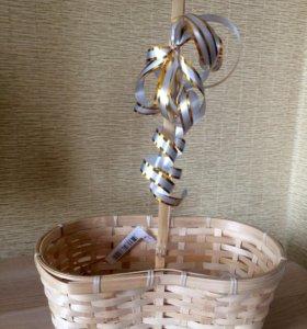 Корзинки плетёные для цветов