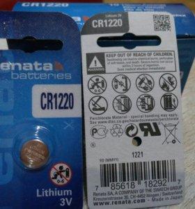 Литиевая батарейка Renata CR1220 Lithium 3V