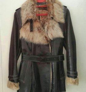 Куртка женская (нат.кожа и мех) НОВАЯ