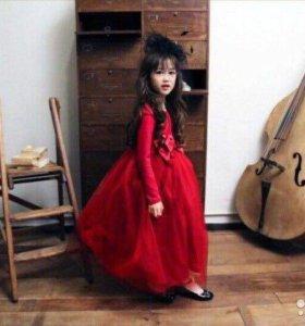 Новое платье в пол+подюбник
