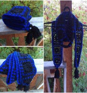 Шапка и шарф ручной работы