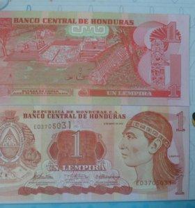 Гондурас Банкнота 1 лемпира 2010 год.