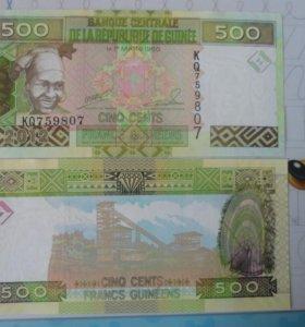 Гвинея Банкнота 500 франков 2012 год.
