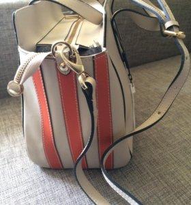 Новая кожаная сумка с биркой Tervolina Италия
