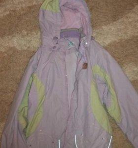 Осенний костюм 128-134 (куртка штаны подева)