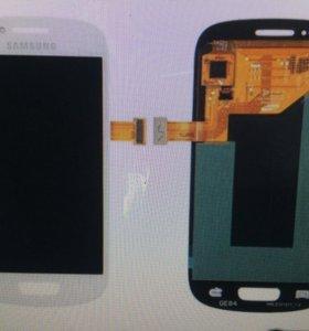 Дисплей galaxy s3 mini с тачскрином i8190