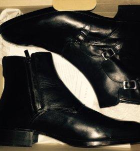 Туфли полу-сапоги из бычьей кожи