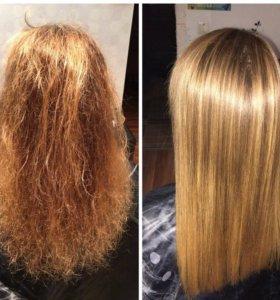 Кератиновое выпрямление и Ботокс (Botox) для волос