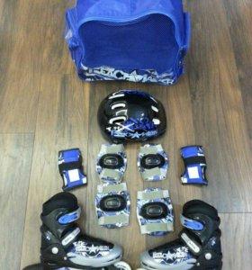 Коньки детские роликовые ASE sport 30-33 размер