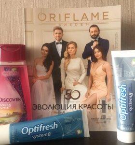 Oriflame Гель и зубная паста