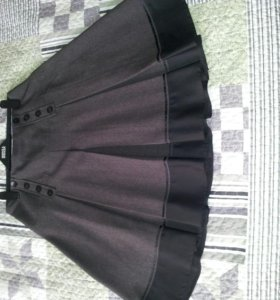 Теплая юбка в складку.