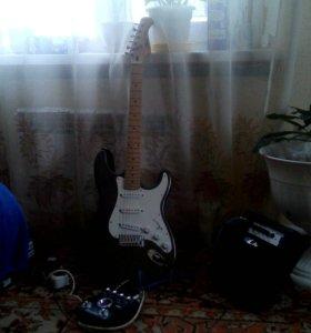 Эл гитара,комбик 10w,машинка zoom
