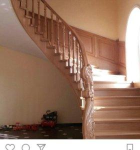 Лестницы под ключ в частный дом.