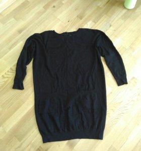 Теплое платье туника для беременных р. 44-46
