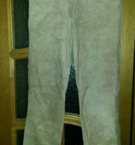 Замшевые брюки 46 размер
