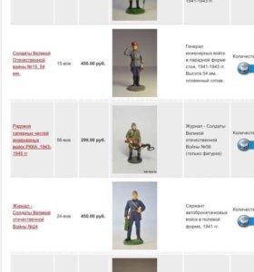 Коллекционные оловянные солдатики