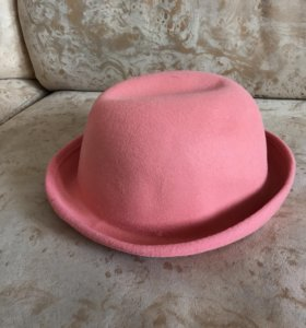 Шляпка розовая
