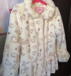Детская куртка из искусственного меха на весну