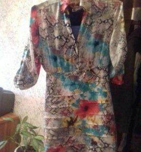 Платье на весну .Верх сшит как рубаха.