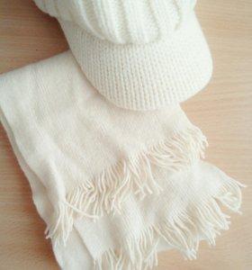 Зимняя кепка + шарф