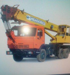 Организация окажет услуги автокрана КамАЗ 25 тонн