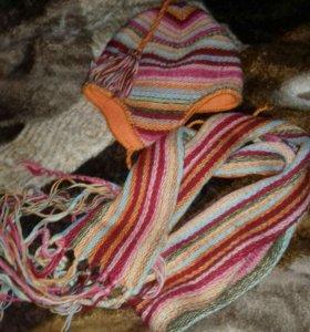 Шапки и шарфы для девочки