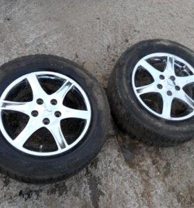Два колеса всборе R16 225/60 5x114,3