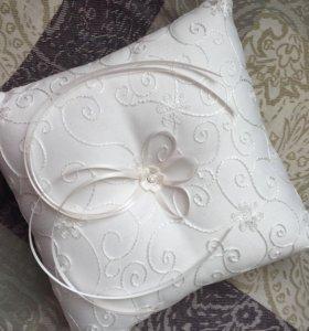 Подушка для колец свадьба