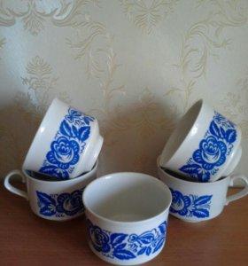 Чашки,фарфор.