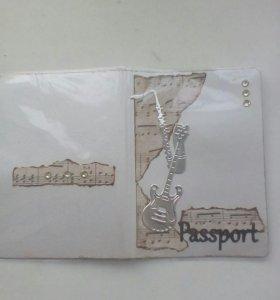 Обложка на паспорт. Ручная работа.