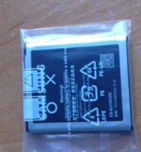 Продам чехол и новую батарейку на телефон samsung