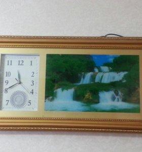 Часы с водопадом.