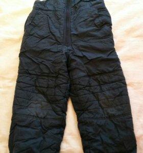 Болоневые штаны-комбинезон