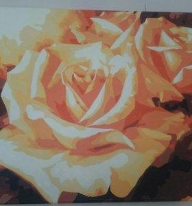 Картина Розы (ручная работа)
