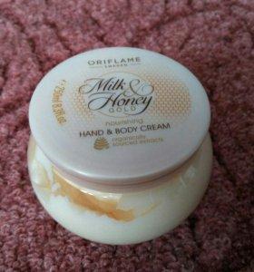 Крем для рук и тела Молоко и мед.