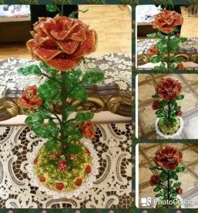 бисер цветок